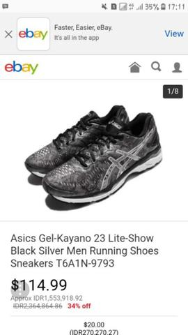 New Asics Kayano 23 original bkn salomon nike adidas puma brooks the north  face 70754b89b4