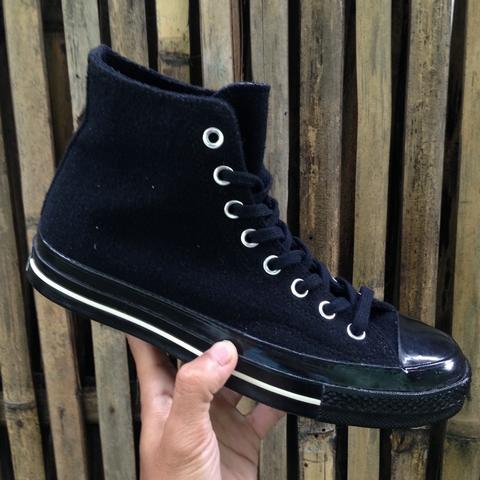 Converse CT 70s HI Triple Black Wool [Team Wool]