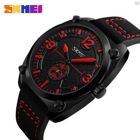 Jam Tangan Pria Casual SKMEI 9155 Original Anti Air 30M - Merah