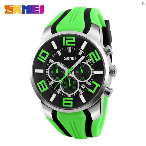 Jam Tangan Pria Sport SKMEI 9128 Original Anti Air 30M - Green