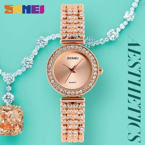 Jam Tangan Wanita Original SKMEI 1224 Anti Air 30M - Rose Gold
