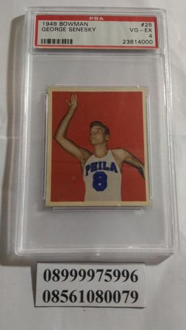 Kartu Basket - Basketball Card 1948 Bowman 25 George Senesky