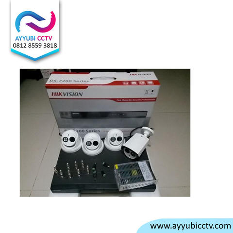 Paket kamera cctv 4CH 3PC CCTV AHD in/out 1,3MP + Hardisk 320GB