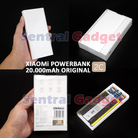 POWER BANK ORIGINAL XIAOMI GEN 2 MI 20000mAh (2 OUTPUT) | POWERBANK QUICK CHARGE 3.0