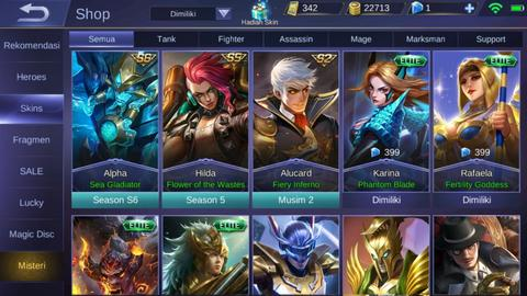 Akun Mobile legends