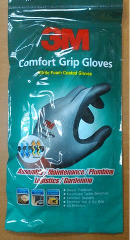 3M comfort Grip Gloves,nitrile Foam Coated Glove large