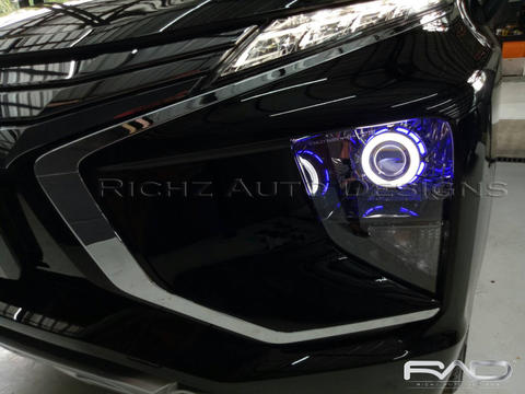 Custom Projector Angel Eyes + Hid , Mitsubisi Xpander