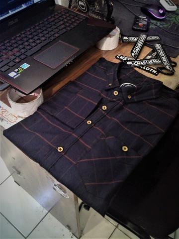 [KOBAR18]Kemeja Flanel Size XL Distro Charliescloth LIMITED EDITION
