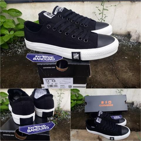 d7f361a78187 Converse All Star CT OX Undefeated Low Black White Premium BNIB (Free tas  sepatu)