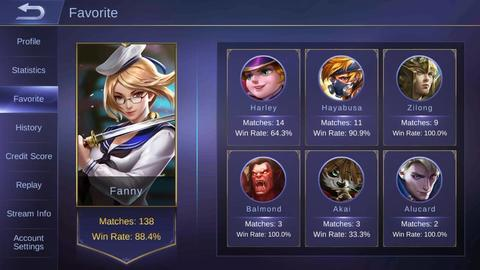 [MURAH] Akun MYTHIC mobile legends / tier id char [ANDROID]