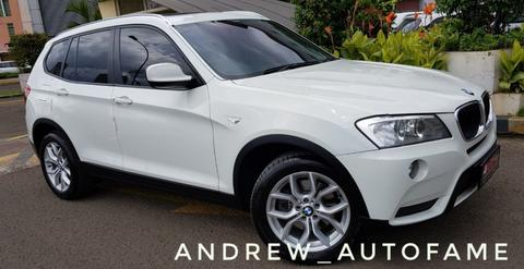 BMW X3 Facelift NIK 2013 White On Red Full Original Perfect Condition
