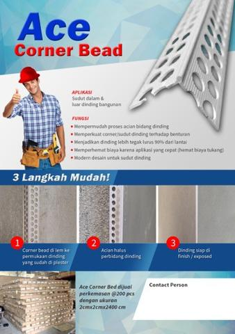 Rangka Corner Bead ACE 20 x 20 x 2400 mm