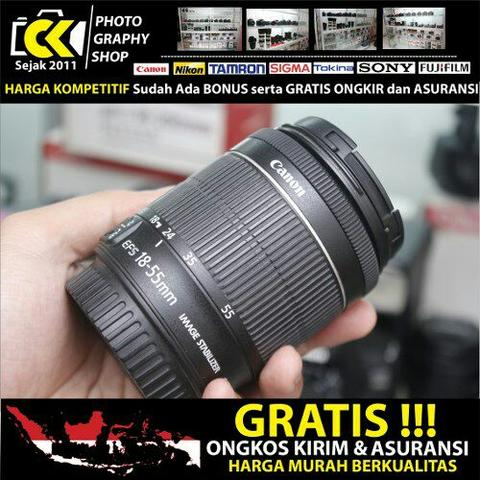 CKPHOTO - Canon EF-S 18-55mm IS STM MURAH Saja