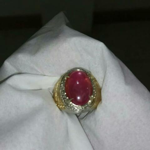 Natural Ruby Oval Cut (No bacan idocrase kalimaya fire opal garut ijo)