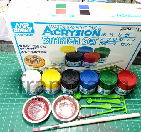[SECOND] Mr. Acrysion Basic Set & German Tank Color Set