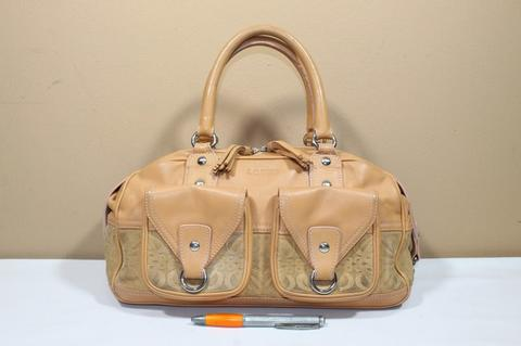 Tas branded LOEWE Cream Mix suede second bekas original asli
