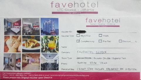 Voucher Hotel By: Fave Hotel Glodok 2D/1N For 2 Person (Deluxe Room)