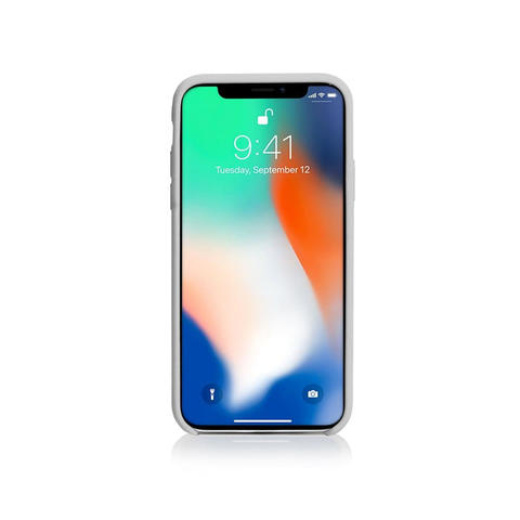 GRITTY Liquid Silicon Stain Resistant Case for iPhone X without Logo