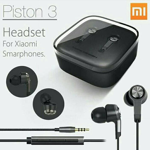 Headset Xiaomi Piston 3 Earphone Xiaomi Stereo New Edition