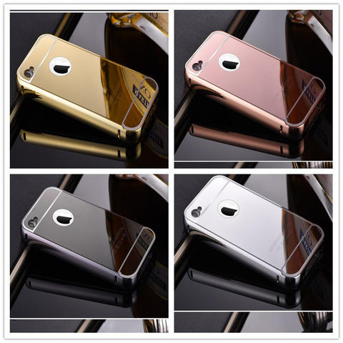 iPhone 4G/4S | BUMPER PLAT MIRROR | BACKCASE | HARDCASE | COVER