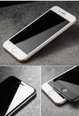 iPhone 6/6s | Tempered Glass FULL COVER 4D Screen Protector FREE iRing - Putih