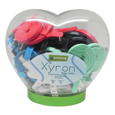 Kabel Data Hippo Xyron iPhone 2.4A 100cm for Apple PILIH WARNA