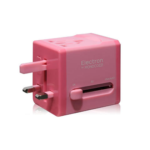 Monocozzi Global Adaptor with 2.1A Dual USB Connector Smighty | PINK