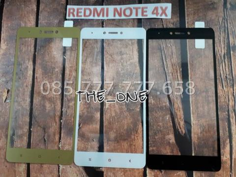 TEMPERED GLASS COLOR /WARNA REDMI NOTE 4X TEMPERED GLASS FULL COVER 3D