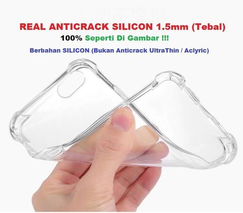 The Real Case Silicon Anticrack Antishock 1.5MM For iPhone 5 6 7 8 X