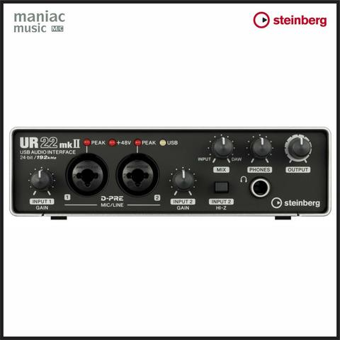 Steinberg UR22 MKII (Soundcard Recording USB, iOS, Software, MIDI, HD)