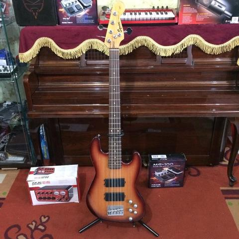 ***BILLY MUSIK*** Bass Squier Affinity Precision 5 String Active P-Bass