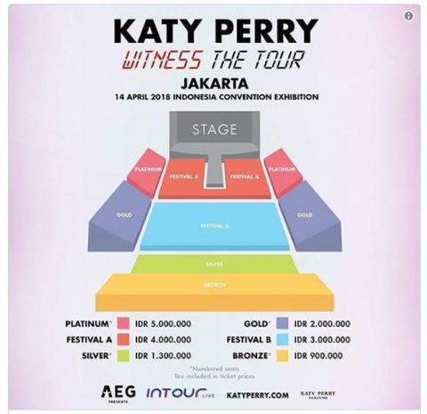 Tiket Katy Perry 14 April 2018 ICE BSD MIRING BGT!!!!!