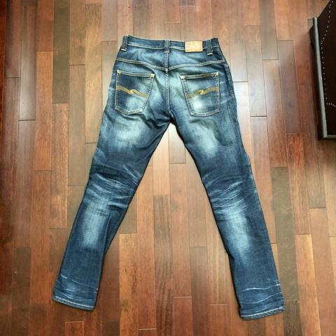 Nudie Jeans Washed Thin Finn Broken Orange not levis oldblue iron heart