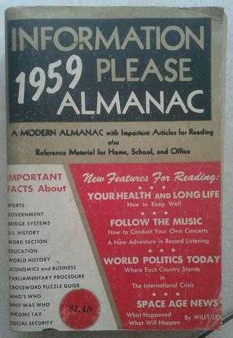 Buku INFORMATION PLEASE ALMANAC 1959