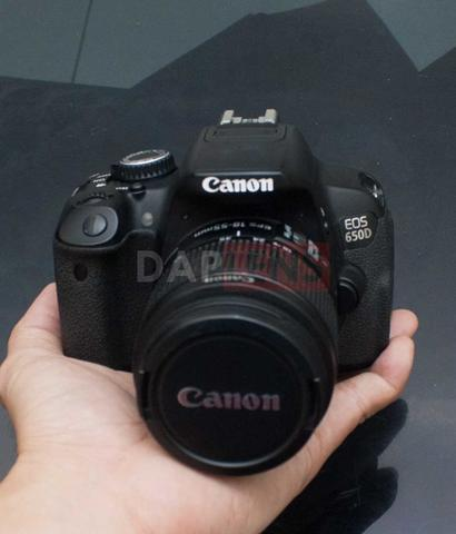 [DAPLENS] CANON EOS 650D KIT 18-55MM IS II BONUS TAS