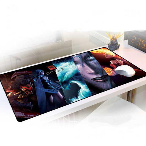 Gaming Mouse Pad Desk Mat Motif DOTA 400 x 900 mm Multi Warna