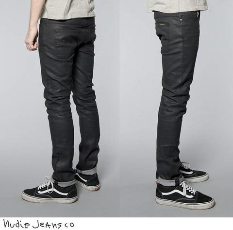 Nudie Jeans Thin Finn Dry Black Coated [MURAH]