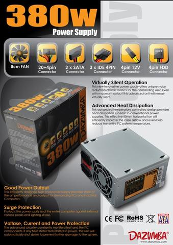 power suply 380 watt murah