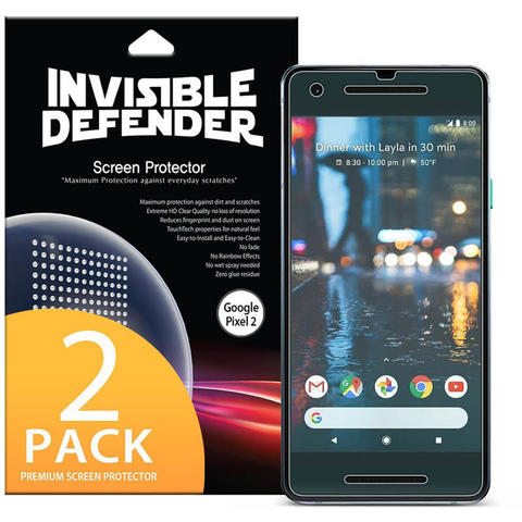 Rearth Ringke Invisible Defender Screen Protector Google Pixel 2