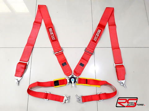 SEAT BELT SPARCO 4 TITIK 3 INCH QUICK RELEASE ,NO TAKATA, NO SABELT, RS-AUTOSTORE