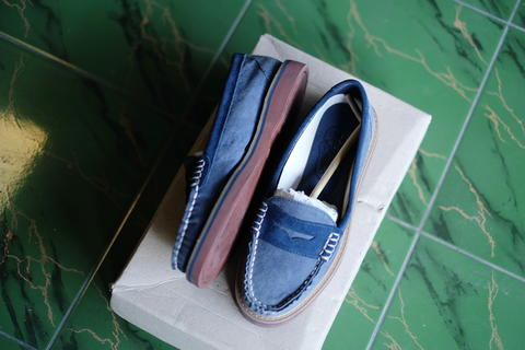 Sperry Top Sider Womens Welted Penny Blue 100% Original Mulus Like New