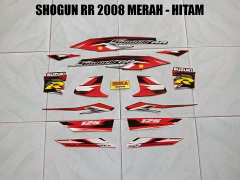Striping Shogun RR 2008 Merah - Hitam