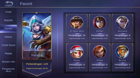 Jual akun mobile legend gg