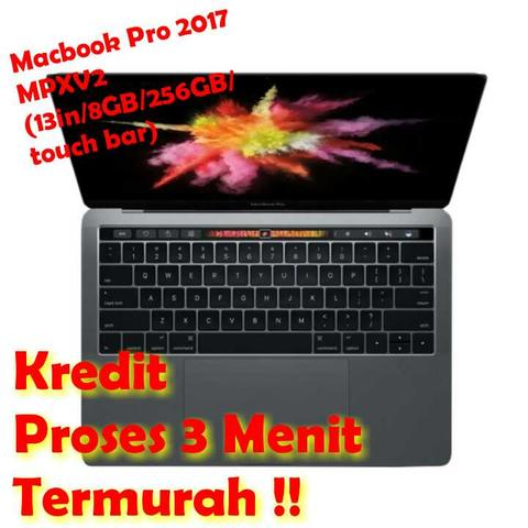 apple macbook pro 2017 MPXV2 (13in/8/256/touch bar) cash dan kredit