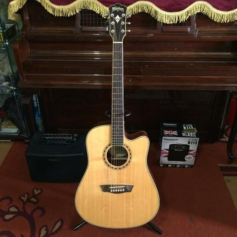 ***BILLY MUSIK*** Gitar Akustik Elektrik Washburn WD10SCE Dreadnought Fishman