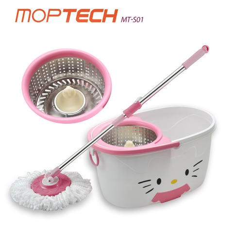 Homme Moptech Kitty MT-S01 Spin Mop - White