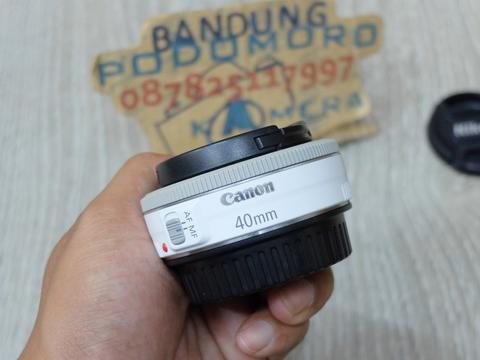 JUAL.. CANON EF 40mm F2.8 STM 'WHITE'- BANDUNG