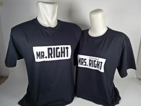 Kaos Couple Mr Right & Mrs Right