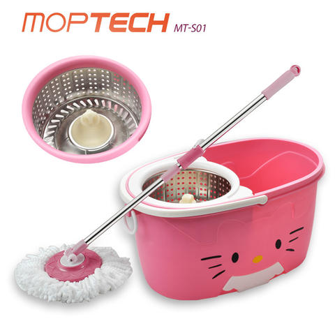 MOPTECH Best Seller Spin MOP MT-S01 Model Terbaru Kitty Pink New Stylish