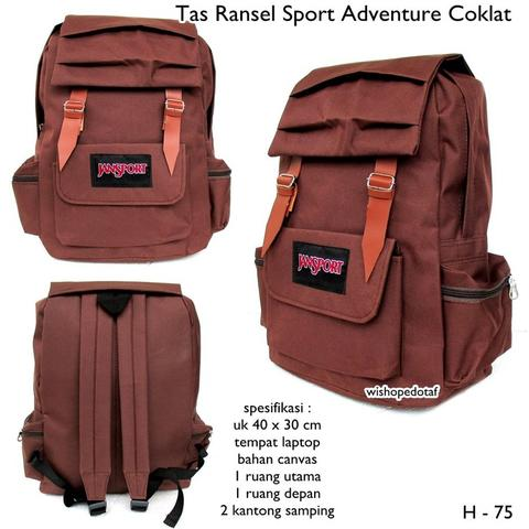 tas ransel canvas sport adventure BROWN